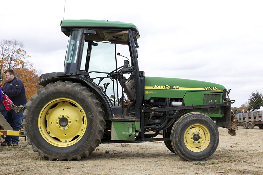 klackle orchard fall family farm john deere tractor