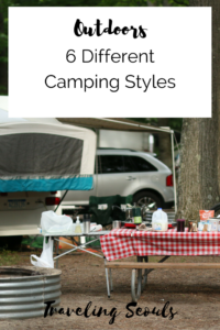 Camping Six Styles pinterest graphic vertical