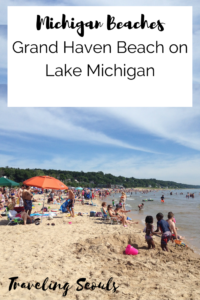 Grand Haven Beach pinterest graphic vertical