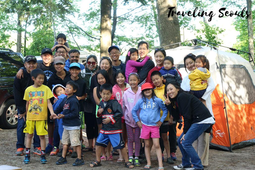 group photo camping ludington state park michigan