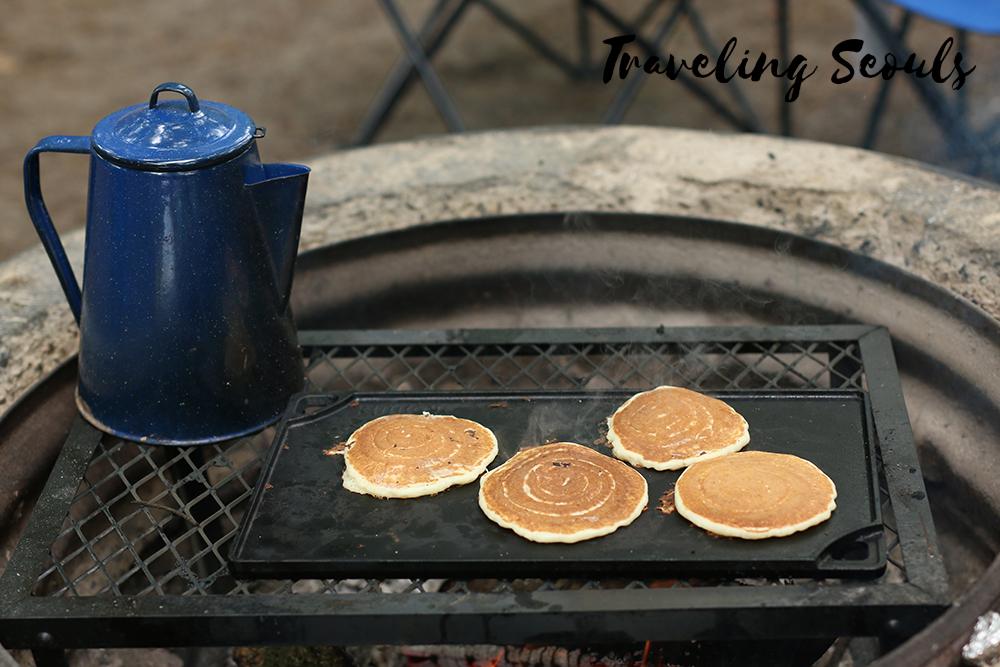 pancakes and coffee camping ludington state park michigan