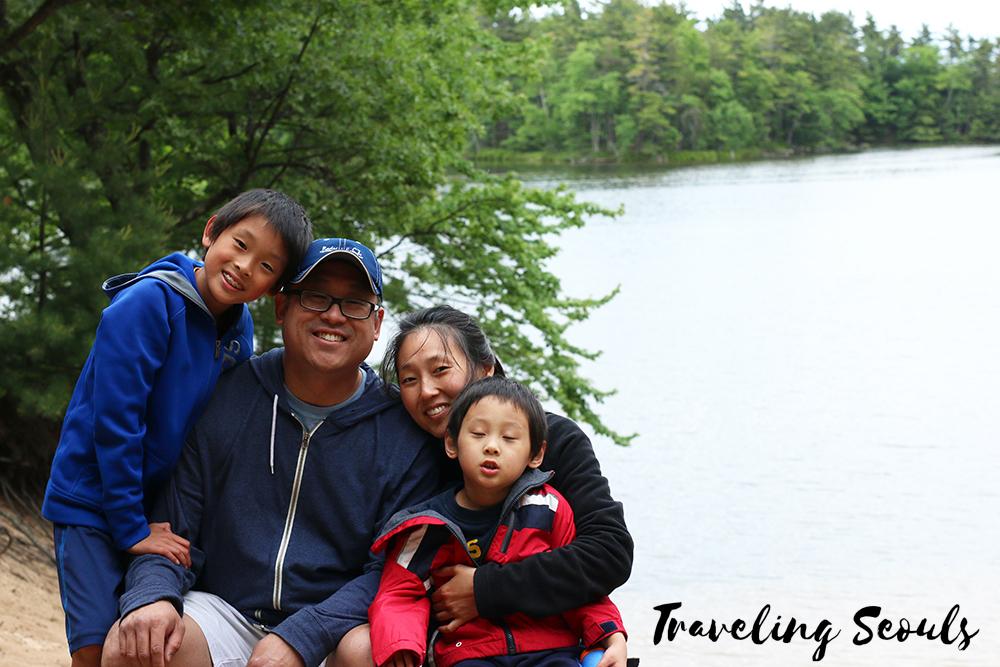 family photo camping ludington state park michigan