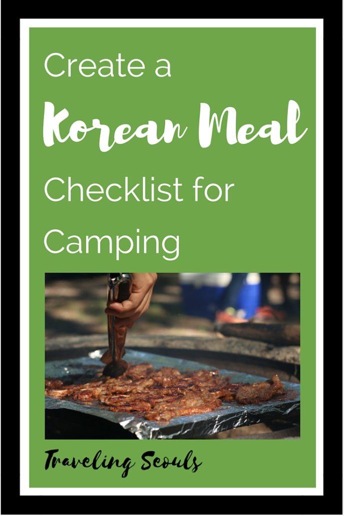 Korean Meal Check List