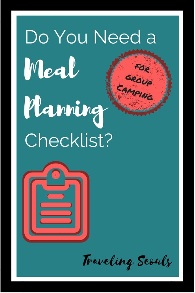 Meal Planning Checklist (for groups)