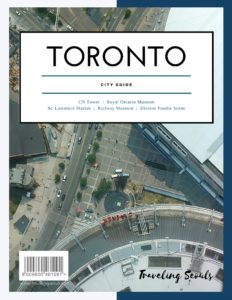 Toronto canada City Guide pinterest graphic