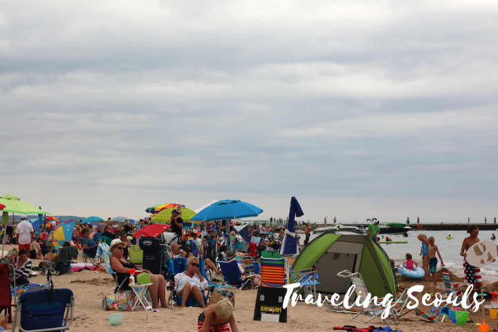mears state park pentwater michigan lake michigan campers tent july 4th fourth beach