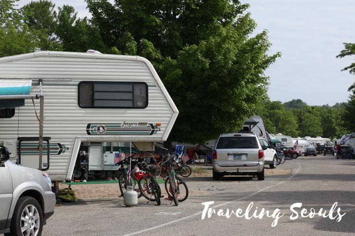 mears stat park pent water michigan lake michigan campers tent
