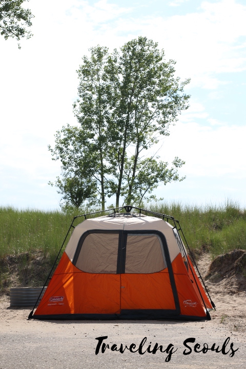 campsite mears state park pentwater michigan lake michigan campers tent