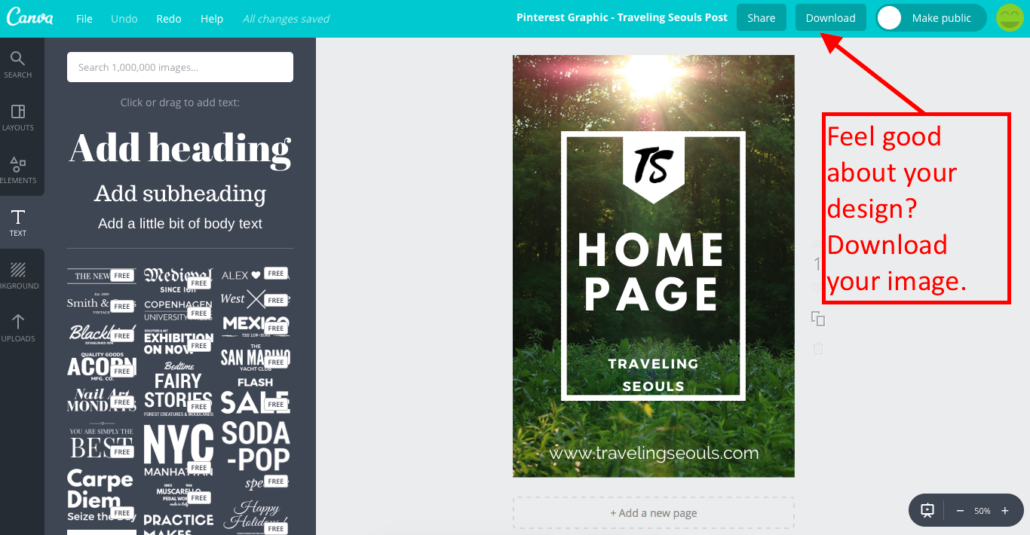 Make a Pinterest Graphic with Canva 11