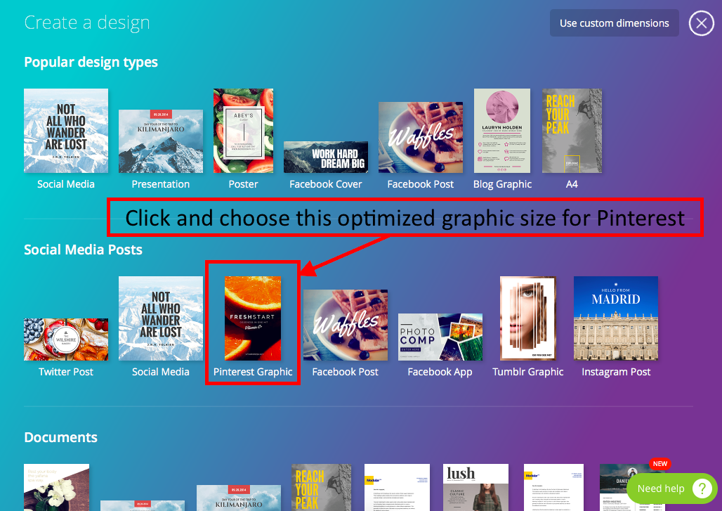 Make a Pinterest Graphic with Canva 3