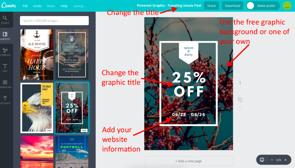 Make a Pinterest Graphic with Canva 5