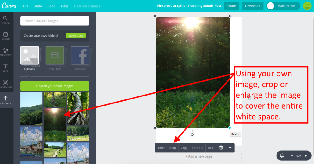 Make a Pinterest Graphic with Canva 6