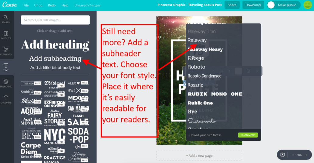 Make a Pinterest Graphic with Canva 9