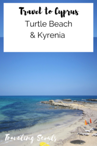 Turtle Beach Kyrenia Cyprus pinterest graphic