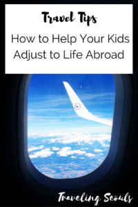 how to help kids to adjust to living abroad pinterest graphic