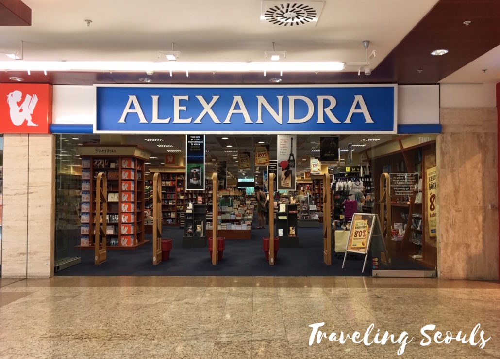 Alexandria bookstore MOM Park Mall Budapest Hungary