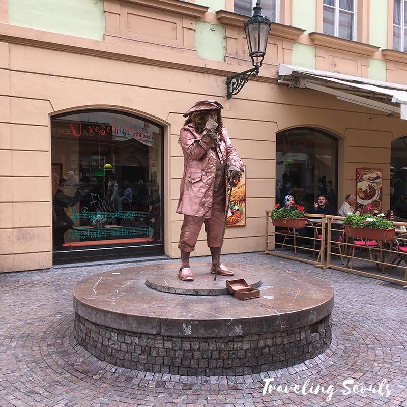 street artistold town square prague czech republic