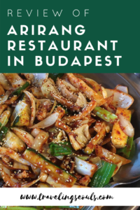 arirang korean restaurant review budapest hungary pinterest graphic