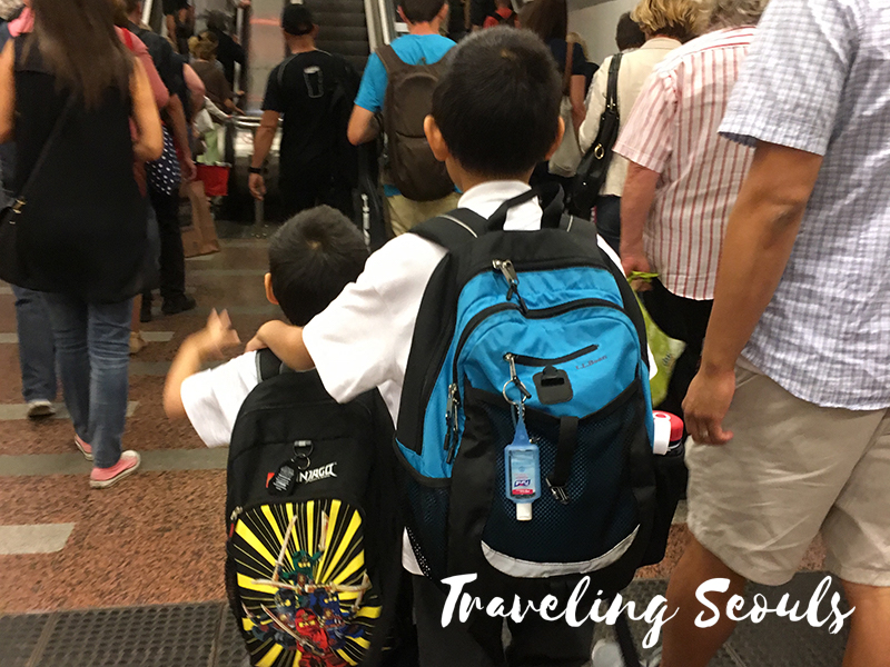 first day of school budapest hungary ggis transportation backpacks