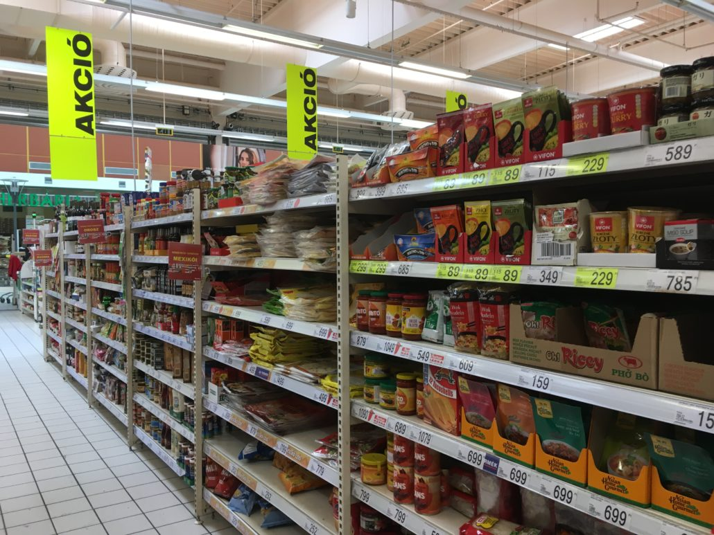 auchan grocery store savoy park budapest hungary