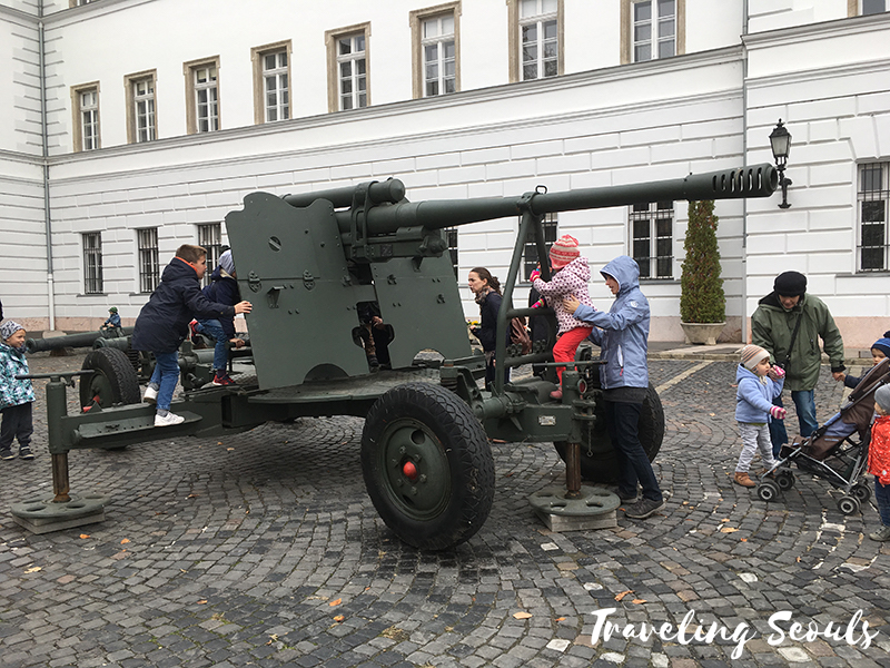 museum of military history in budapest hungary howitzer